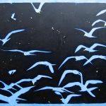 Vol de nuit, acrylique sur toile, 130x195cm, 1993