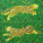 Etude de jungle, acrylique sur toile, 80x80cm, 1993
