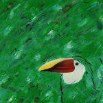 Etude de jungle, acrylique sur toile, 81x65cm, 1994, collection particulière