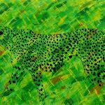 Etude de jungle n°4, acrylique sur toile, 97x146cm, 1995