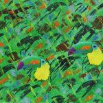 Etude de jungle n°5, acrylique sur toile, 89x116cm, 1995, collection particulière