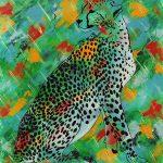 Etude de jungle n°6, acrylique sur toile, 100x81cm, 1995, collection particulière