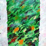 Etude de jungle n°7, acrylique sur toile, 130x195cm, 1996