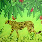 Etude de jungle, acrylique sur toile, 65x81cm, 1999, collection particulière