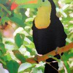 Impression, jungle, encre sur toile, 55x46cm, 2015