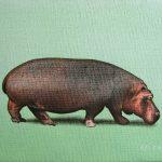 Etude pour hippopotame|2005, acrylique sur toile, 16x22cm