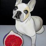 Figue et dog|2008, acrylique sur toile, 46x38cm