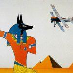 African night flight, acrylique sur toile, 81x100cm, 1989, collection particulière