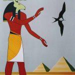 Grand paysage égyptien, acrylique sur toile, 162x114cm, 1989, collection de l'artiste
