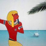 Le songe de Ramsès, acrylique sur toile, 81x100cm, 1989, collection particulière
