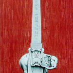 Roma, piazza della Minerva, acrylique sur toile, 100x70cm, 2000, collection particulière