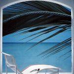 L'itinéraire du babouin, 1ère station|1980, acrylique sur toile, 150x150cm, collection particulière
