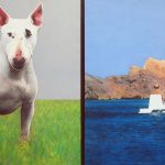 As-tu pensé au chien?, technique mixte sur toile, 100x200cm, 2001