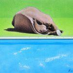 Torpeur ligérienne, acrylique sur toile, 30x40cm, 2008, collection particulière