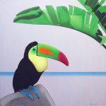Sous les bananiers, acrylique sur toile, 80x80cm, 2012