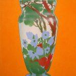 Composition au vase de Gallé, acrylique sur toile, 116x81cm, 2005, Banque Populaire du Val   de France