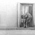 Roma, giardino zoologico II, mine de plomb sur papier, 50x65cm, 2001, collection particuliére