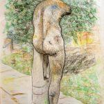 Ostia antica, l'Ercole I, pastel sur papier, 65x50cm, 2002
