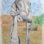 Ostia antica, l'Ercole II, pastel sur papier, 65x50cm, 2002