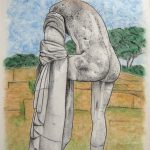 Ostia antica, l'Ercole III, pastel sur papier, 65x50cm, 2002