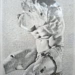 Le torse du Belvédère, mine de plomb sur papier, 65x50cm, 2008