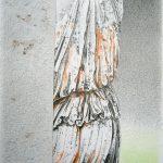 Villa Hadriana|2008, mine de plomb et crayons de couleur sur papier, 65x50cm