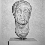 Ritratto virile II, mine de plomb sur papier, 65x50cm, 2009