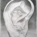 Composition au vase d'Andrea Branzi, mine de plomb sur papier, 65x50cm, 2010