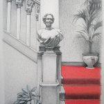 Danieli, mine de plomb, crayons de couleur et pastel sur papier, 65x50cm, 2012, collection particulière