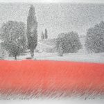 Summer in Tuscany, mine de plomb et pastel sur papier, 50x65cm, 2012