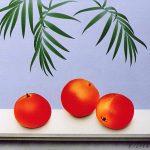 Composition aux grenades|1996, acrylique sur toile, 46x55cm, collection de l'artiste