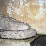 Il piè di marmo, acrylique sur toile, 27x41cm, 2019